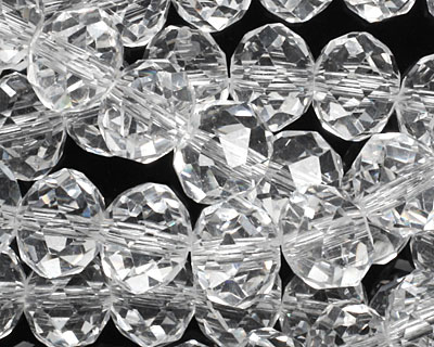Clear Crystal Faceted Rondelle 10mm
