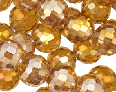Topaz AB Crystal Micro-Faceted Round 12mm