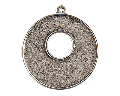 Nunn Design Antique Silver (plated) Grande Circle Bezel Toggle 37x32mm