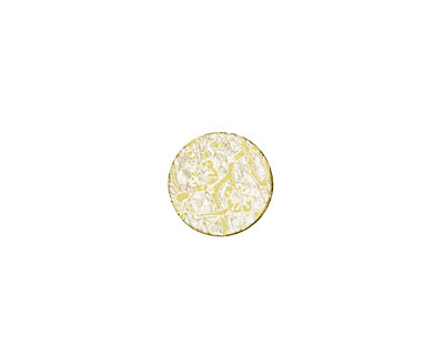Lillypilly Gold Cherry Blossom Anodized Aluminum Disc 11mm, 22 gauge