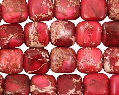 Ruby Impression Jasper Puff Square 10mm