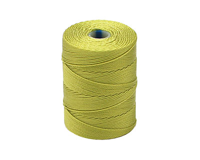 C-Lon Chartreuse Fine Weight (.4mm) Bead Cord