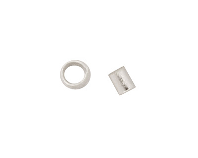 Silver (plated) Crimp Tube 1x1.5mm