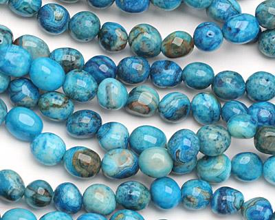 Larimar Blue Crazy Lace Agate Tumbled Nugget 6-10x6-9mm