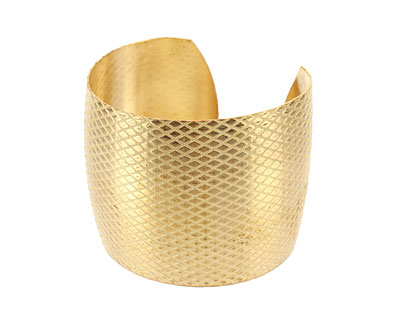 Brass Criss Cross Cuff 64x50mm