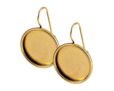 Nunn Design Antique Gold (plated) Large Circle Frame Earring 21mm