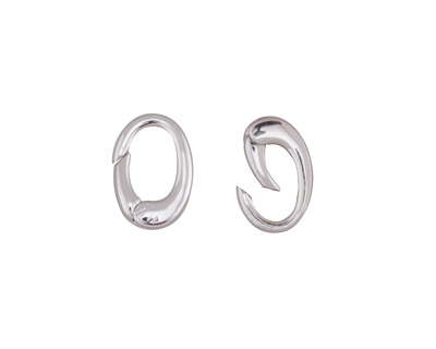 Rhodium (plated) Ring Lobster Clasp 12x8mm
