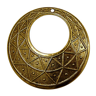 Stampt Antique Gold (plated) Pyramid Print Gypsy Hoop 50mm