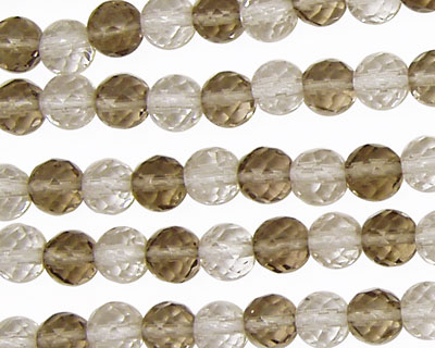 Multi Stone (Smoky & Rock) Faceted Round 6mm