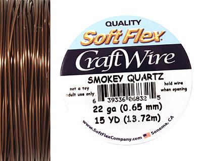 Soft Flex Smokey Quartz Craft Wire 22 gauge, 15 yards