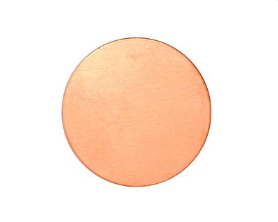 Copper Circle Blank 25mm