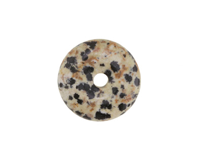 Dalmatian Jasper Donut 25mm