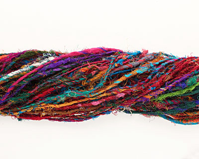 Rich Recycled 100% Silk Sari Yarn