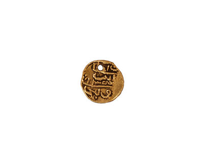 TierraCast Antique Gold (plated) Maldive Larin Charm 9mm