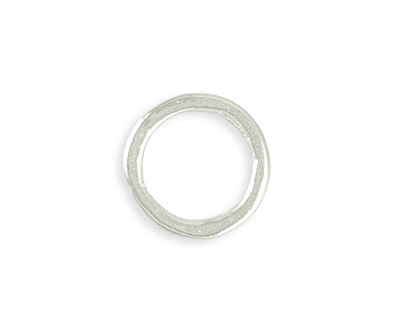 Vintaj Sterling Silver (plated) Heavy Hammered Ring 23mm