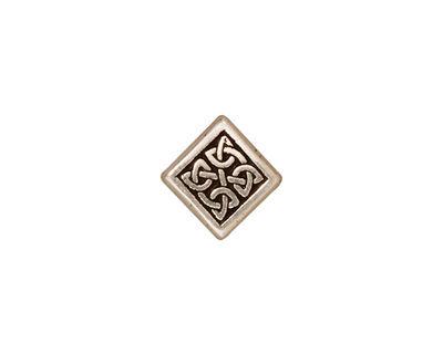 TierraCast Antique Silver (plated) Medium Celtic Diamond Bead 14mm