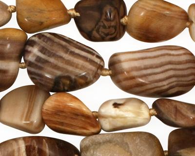 Black Petrified Wood Tumbled Nugget 12-25x11-13mm
