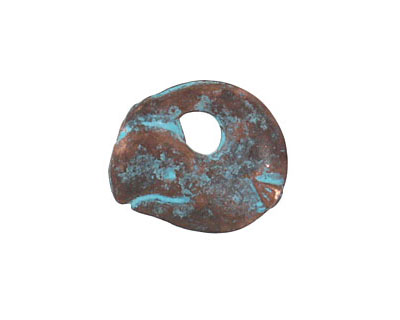 Greek Copper (plated) Patina Whale Pendant 21mm