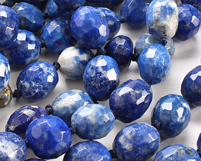 Lapis Faceted Nugget 11-14x11-13mm