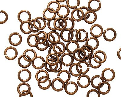 Vintage Bronze Enameled Copper Round Jump Ring 5mm, 18 gauge