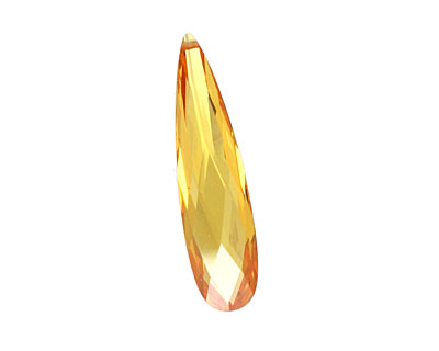 Sunshine Faceted Flat Teardrop 9x36mm