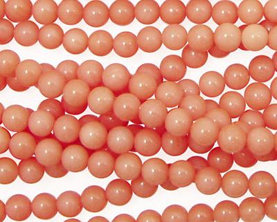 Coral, Angel Skin Pink Round 3mm