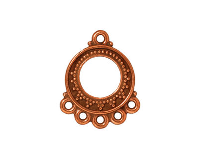 TierraCast Antique Copper (plated) Bali Chandelier 18x22mm
