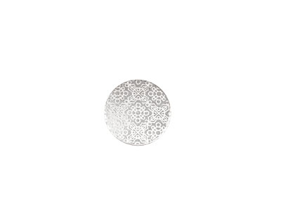 Lillypilly Silver Baroque Anodized Aluminum Disc 11mm, 22 gauge