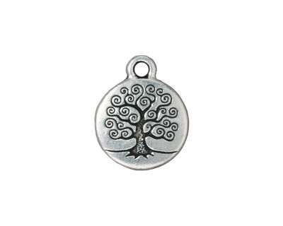 TierraCast Antique Silver (plated) Tree of Life Charm 15x19mm