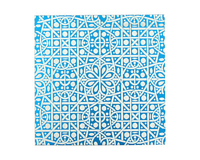 Lillypilly Turquoise Cross Stitch Anodized Aluminum Sheet 3
