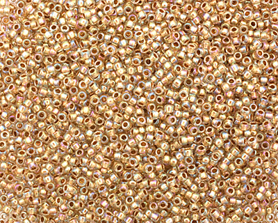 TOHO Rainbow Crystal (with Gold Lining) Round 15/0 Seed Bead