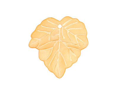 Lucite Peach Small Ivy Leaf 24x25mm
