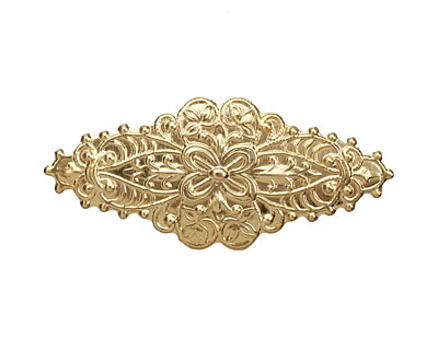 Brass Ornate Diamond 49x22mm