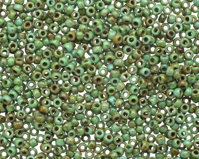 TOHO Turquoise Picasso Hybrid Round 11/0 Seed Bead