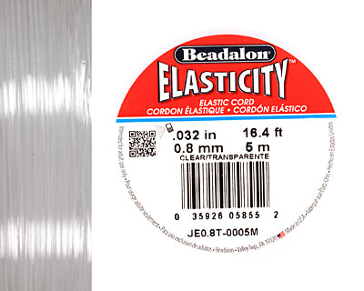 Elasticity Clear .8mm, 5 meters