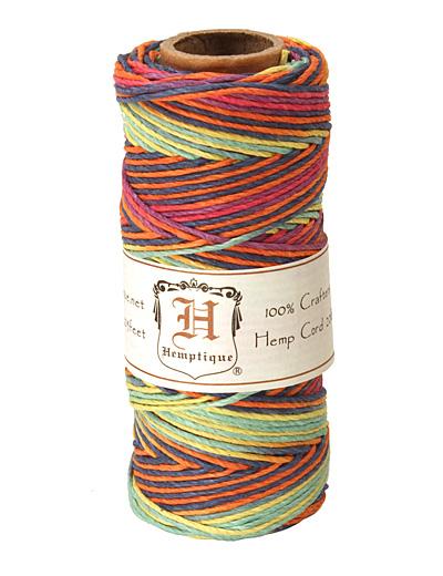 Rainbow Hemp Twine 20 lb, 205 ft