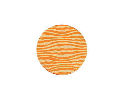 Lillypilly Orange Zebra Anodized Aluminum Disc 19mm, 24 gauge