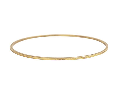 Nunn Design Antique Gold (plated) Small Flat Bangle Bracelet 70mm
