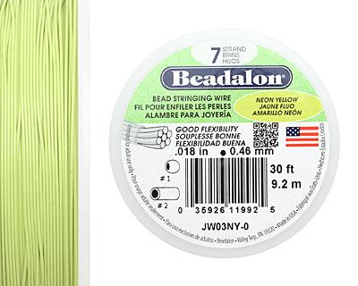 Beadalon Neon Yellow .018