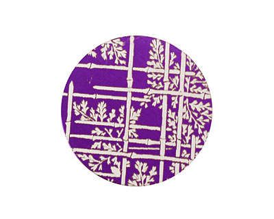 Lillypilly Purple Bamboo Anodized Aluminum Disc 25mm, 24 gauge