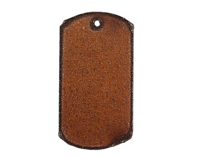 The Lipstick Ranch Rusted Iron Dog Tag Blank 29x55mm