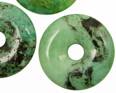 Grass Green Turquoise Donut 30mm