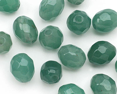 Green Aventurine Faceted Nugget (Large Hole) 14-16x10-12mm