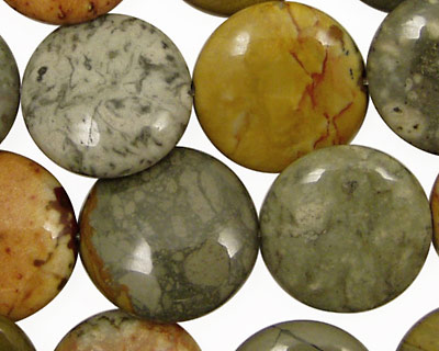 Owyhee Jasper Puff Coin 18mm