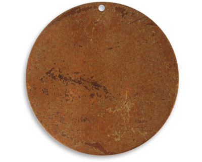 Vintaj Artisan Copper Large Circle Altered Blank 34mm
