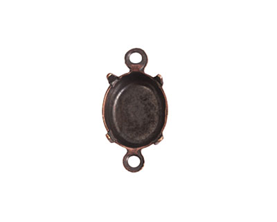 Nunn Design Antique Copper (plated) Oval Prong Setting 16x9mm