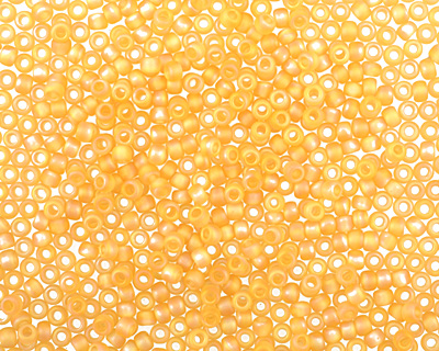 TOHO Transparent Rainbow Frosted Light Topaz Round 11/0 Seed Bead