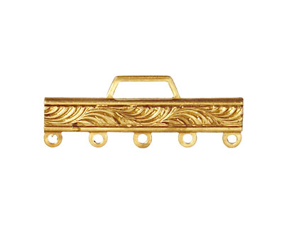 Brass Scrolling Bar 1-5 Link 32x12mm