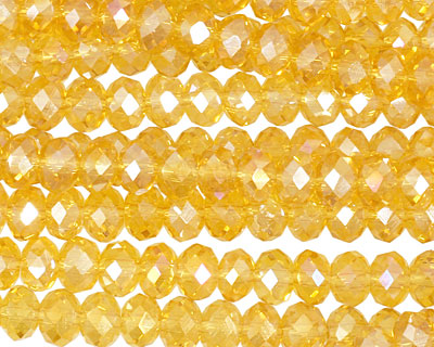 Sunshine AB Crystal Faceted Rondelle 6mm