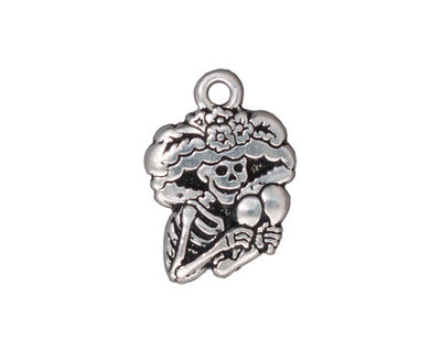 TierraCast Antique Silver (plated) Catrina 16x23mm